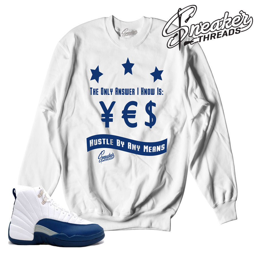 1d3dedb0d6925f Match jordan 12 french blue sweaters retro 12 sneaker crew.