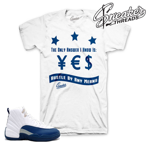 Match jordan 12 french blue shirts retro 12 sneaker tees.