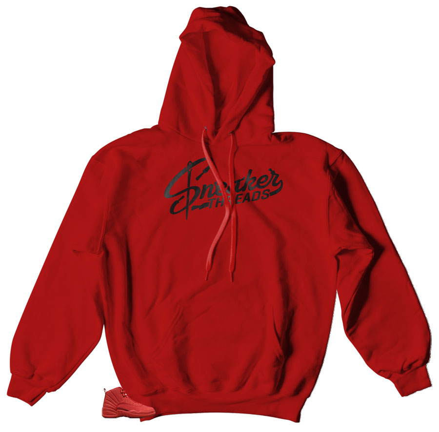 Jordan 12 retro gym red sneaker matching hoody | Retro gym red Jordan 12 hoody matching sneakers