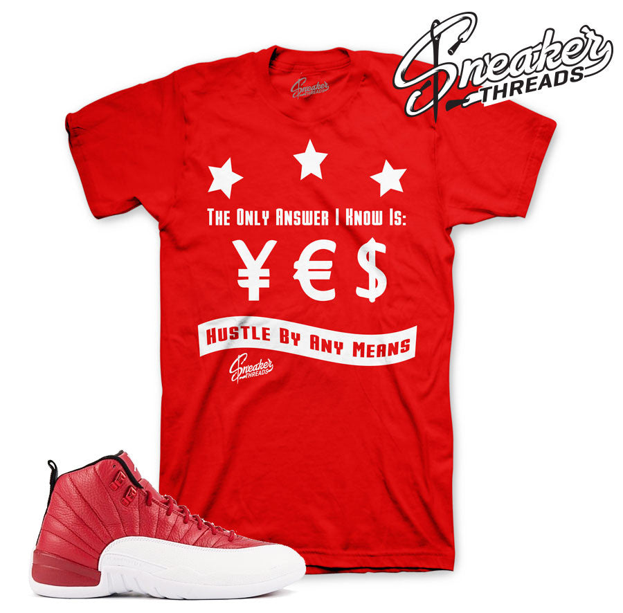 Jordan 12 Gym Red Answer Shirt