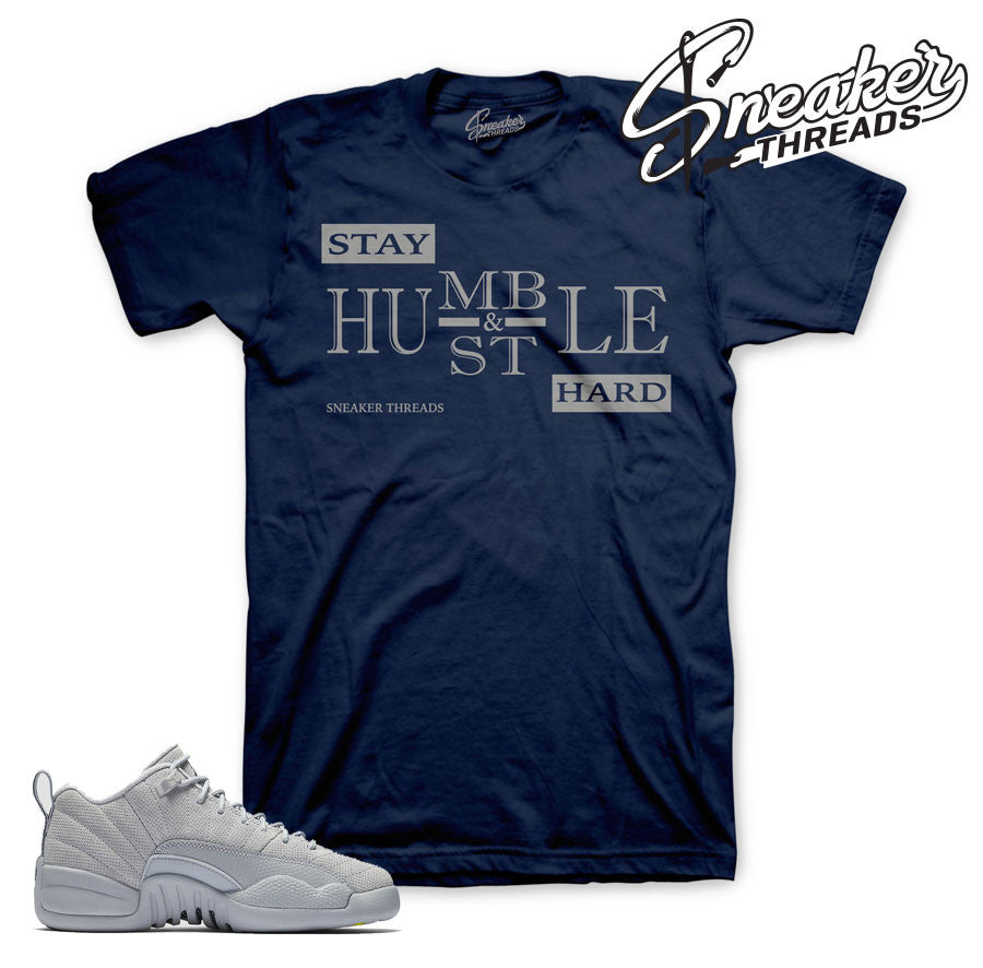 Jordan 12 wolf grey low sneaker match tees for retro 12.