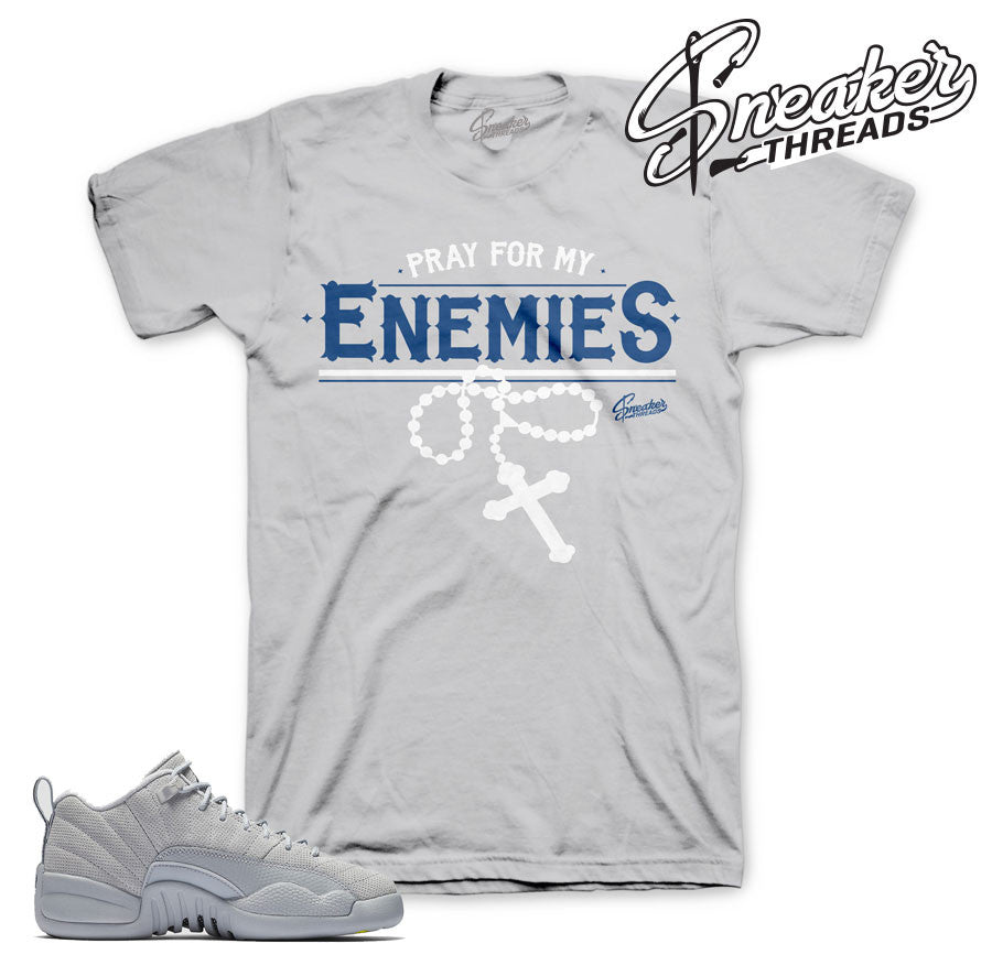 Jordan 12 Wolf Grey Enemies Shirt