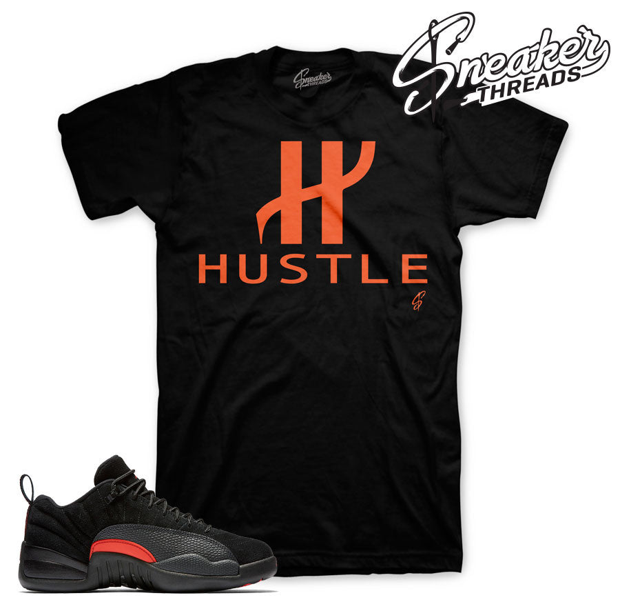 Jordan 12 max orange t-shirts match retro 12 sneaker shirts.