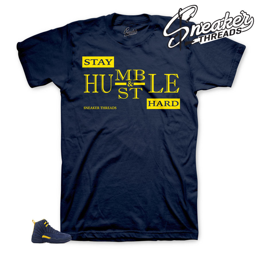 Jordan 12 Michigan Humble tee
