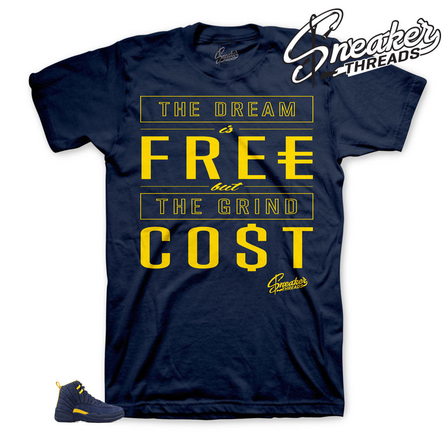Cost Shirt for Jordan 12 Michigan | Sneaker Tees