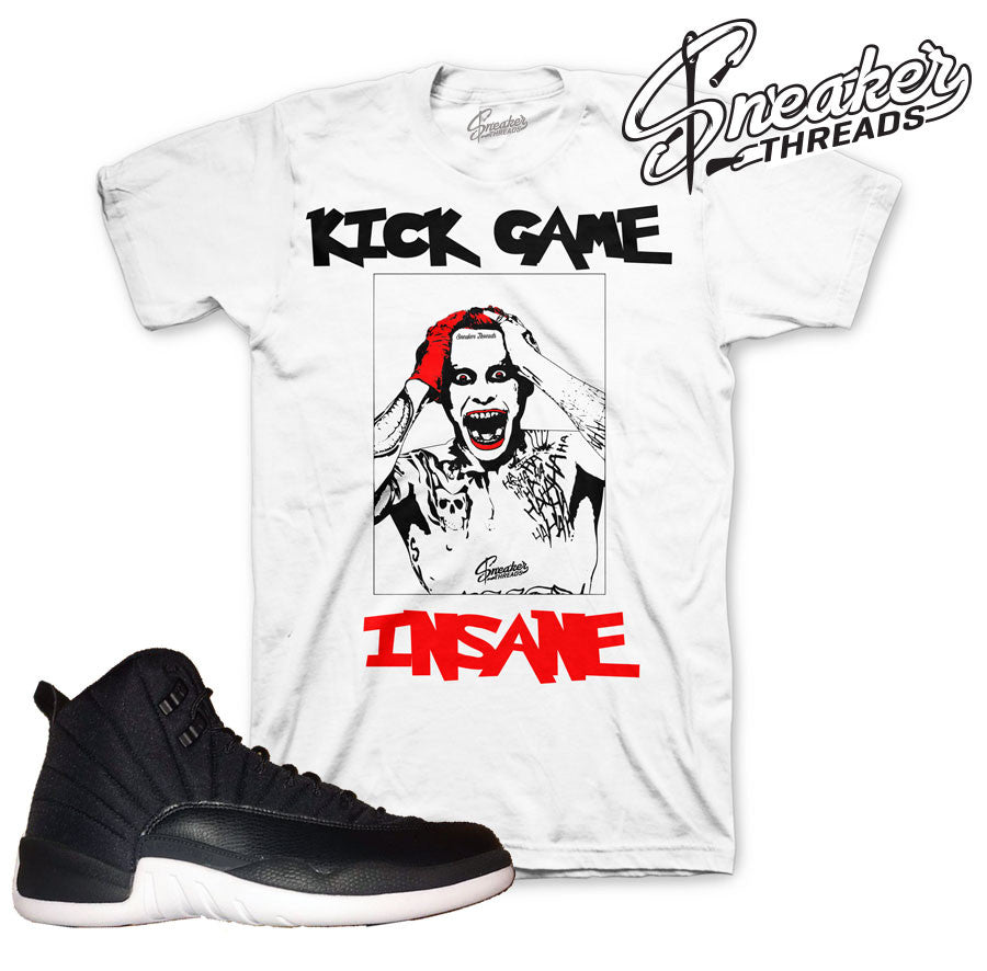 Tee match Jordan 12 nylon retro 12 neoprene sneaker match tees.