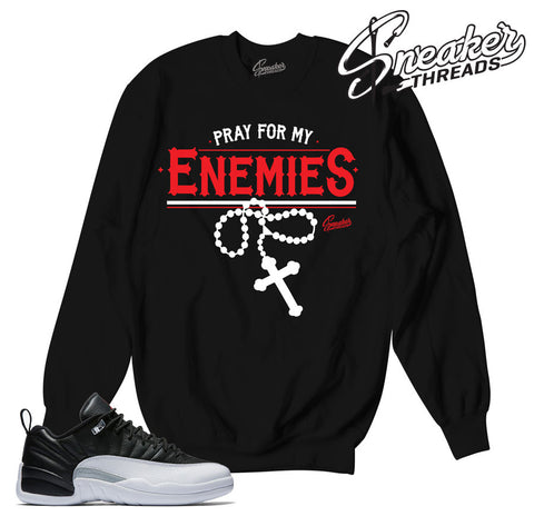 Playoff Jordan 12 sweaters match retro 12 shoes.