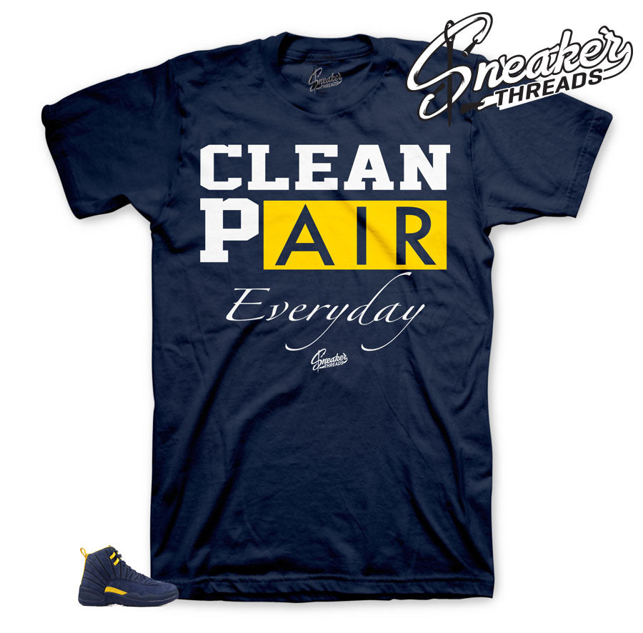 Jordan 12 Michigan Clean Pair Shirt