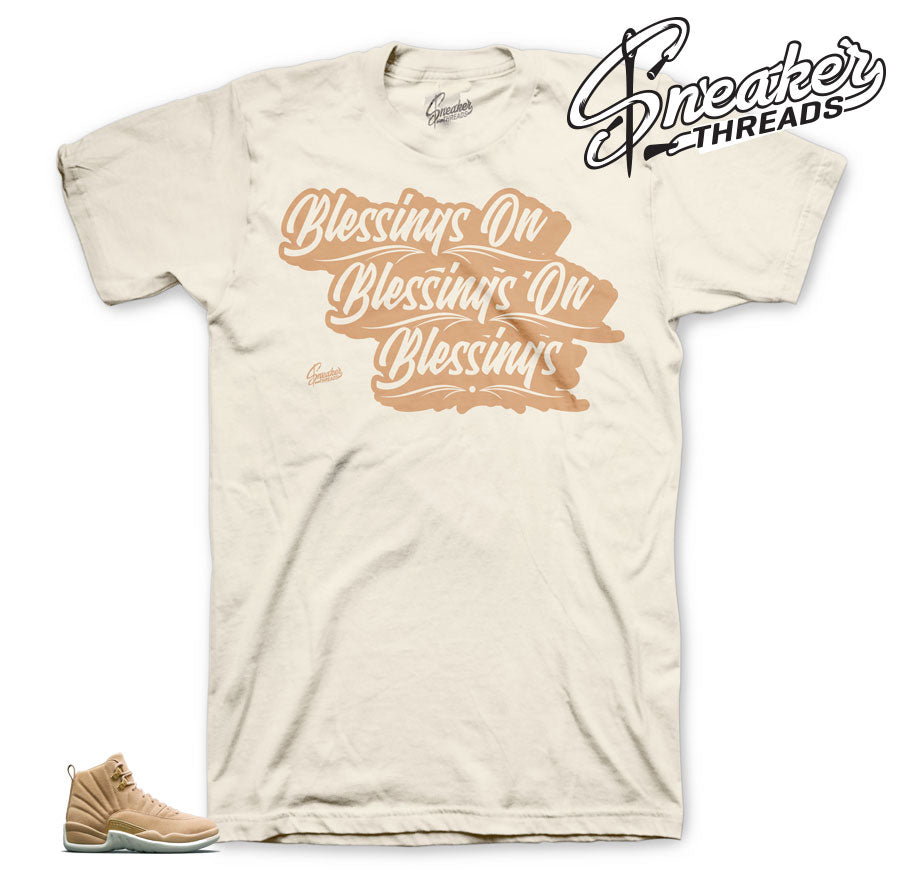 Vachetta tan 12 shirts match retro 12 sneaker matching clothing.