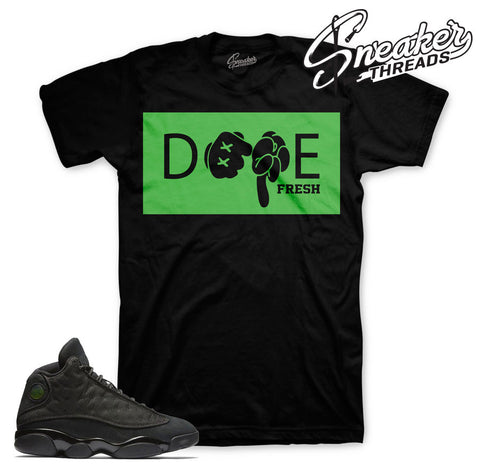 Match Jordan 13 black cat t-shirts retro 13 black cat tees.