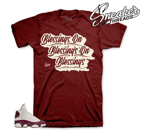 Jordan 13 bordeaux sail shirts | Bordeaux 13 tees.
