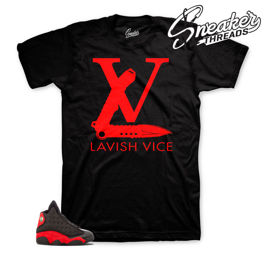 Jordan 13 bred shirts match shoes | Lavish vice tee.