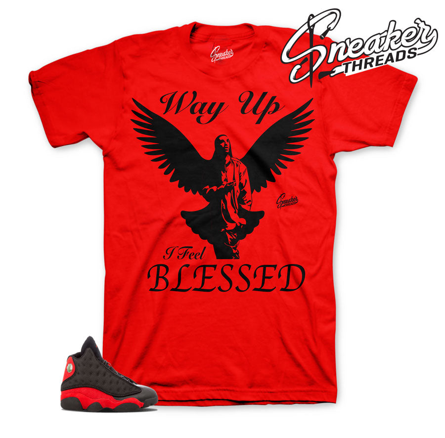 Shirts match Jordan 13 bred | way up sneaker tees.