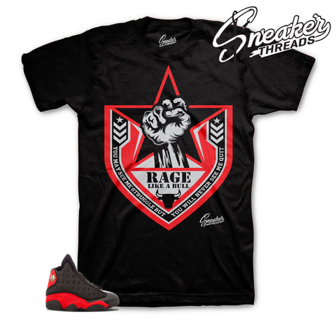 Jordan 13 bred shirts match shoes | Rage like a bull tee