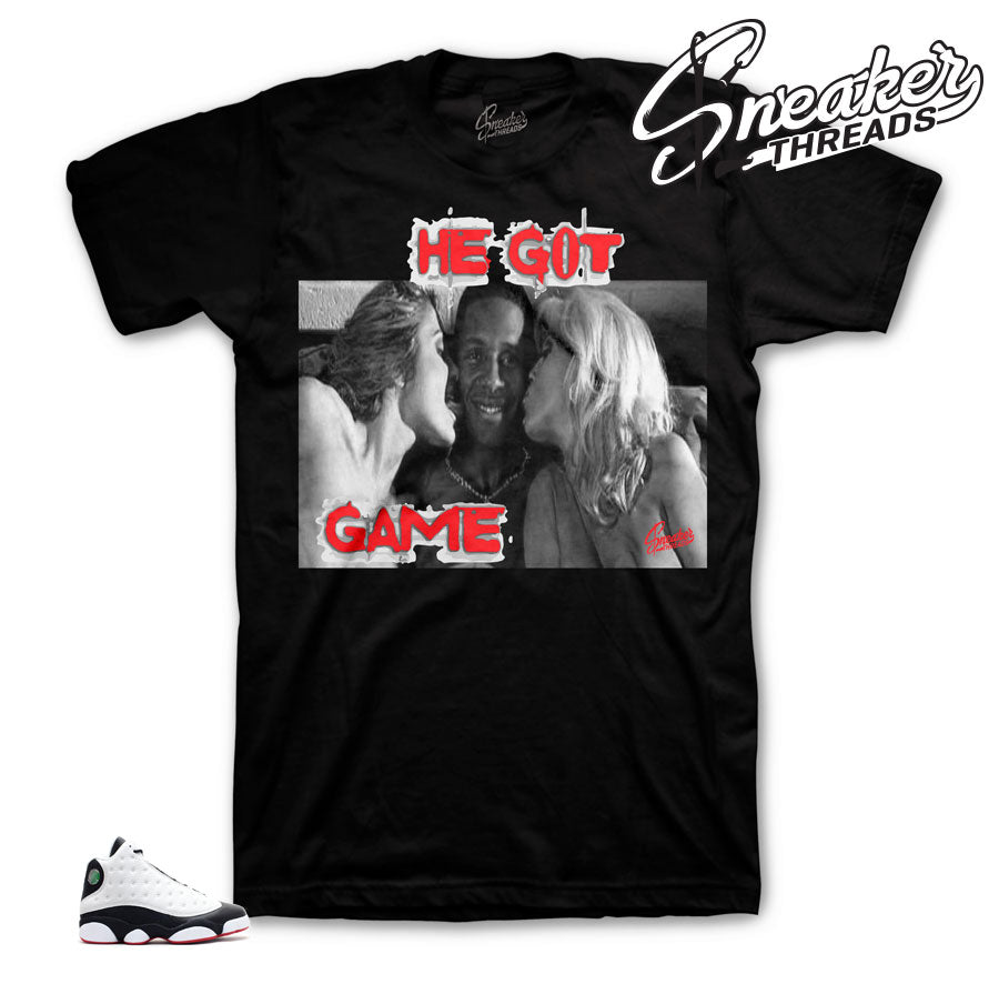 Jordan 13 he got game tees match retro 13 he got game shirts match,