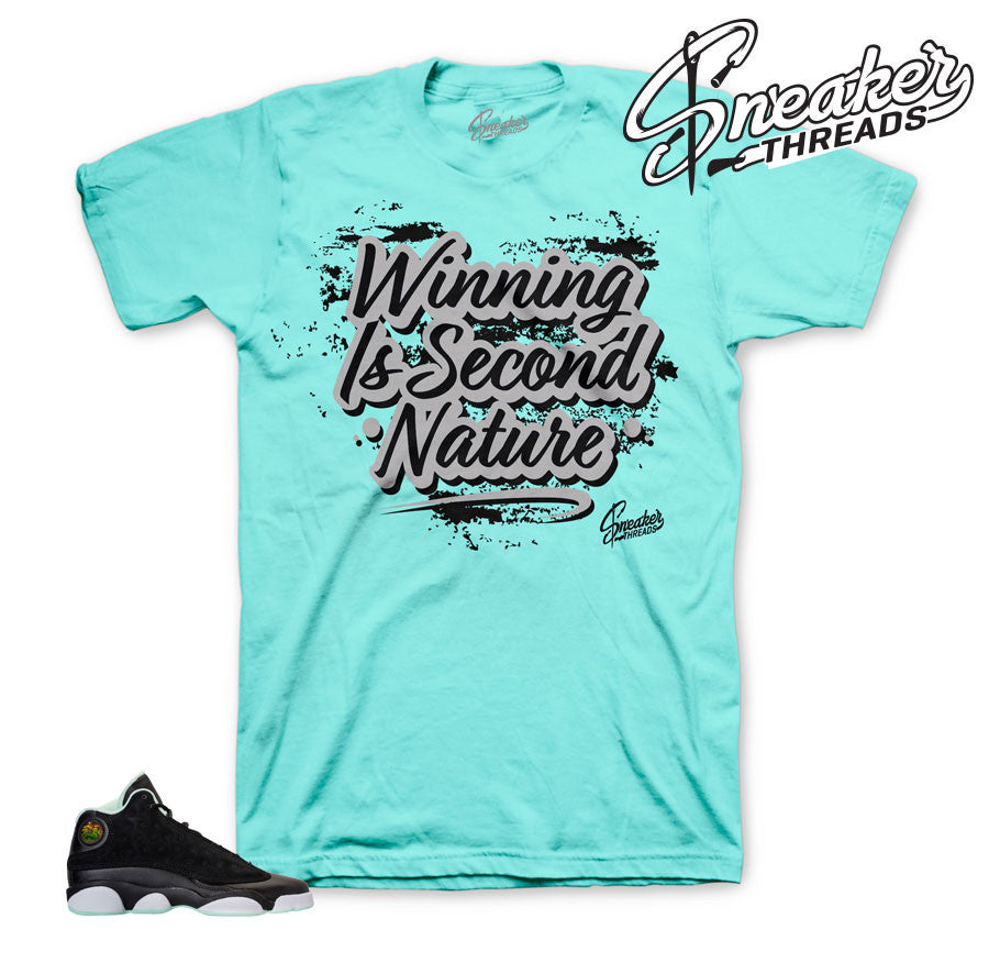 Shirts Match jordan 13 mint foam retro 13 sneaker tee.