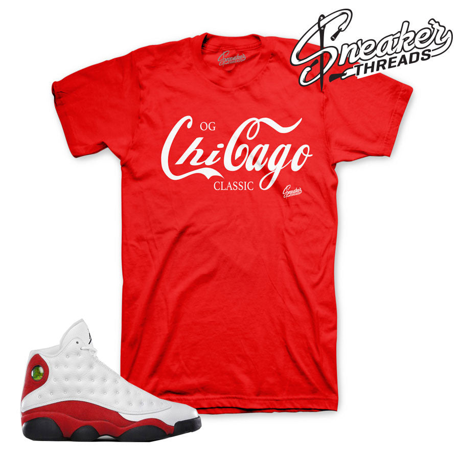 Chicago 13 tees match OG Retro 13 sneakers.