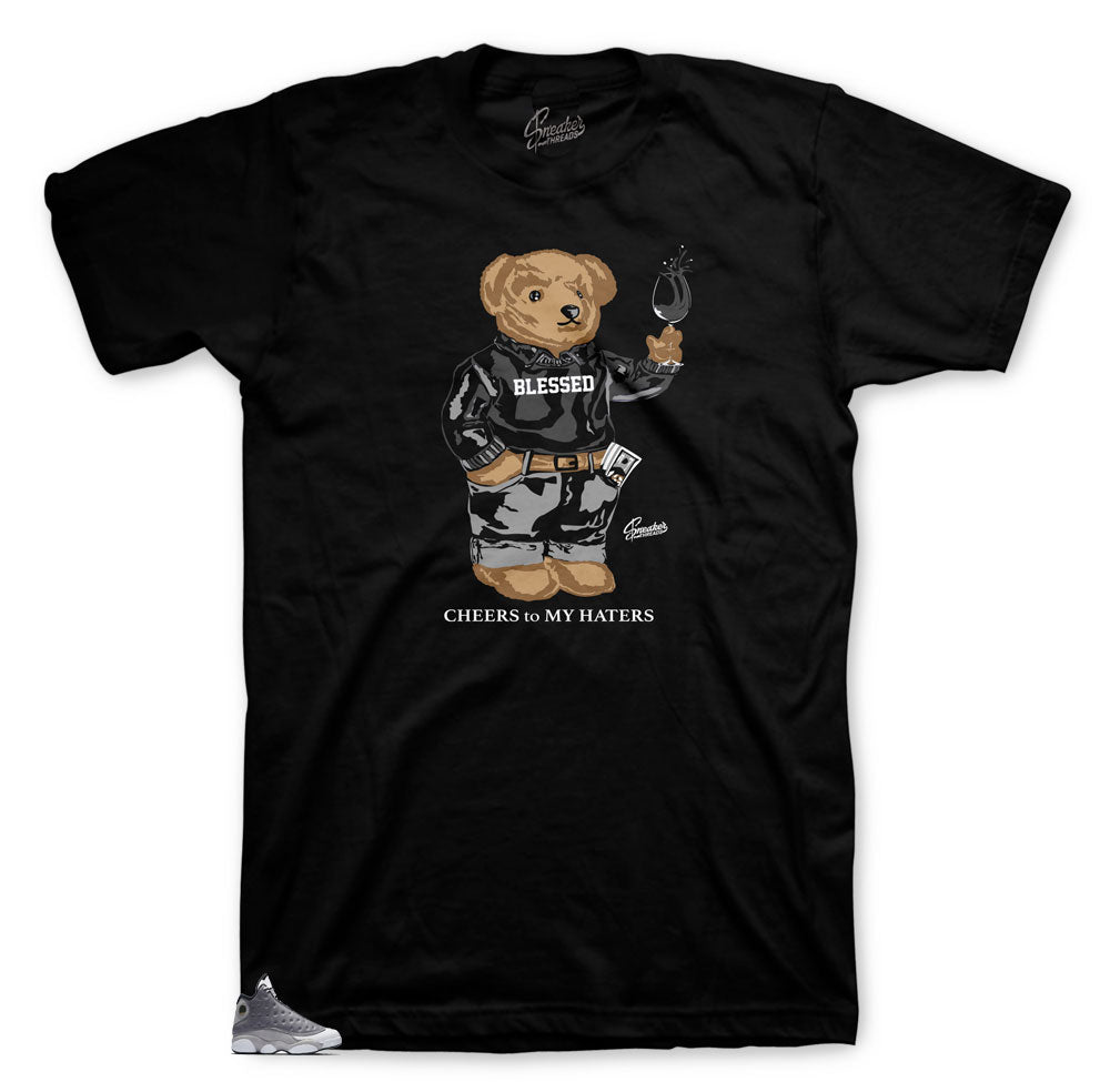 Jordan 13 Atmosphere Cheers Bear shirt