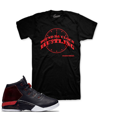 Jordan 17 gym red tees match retro 17 bulls sneaker tees.