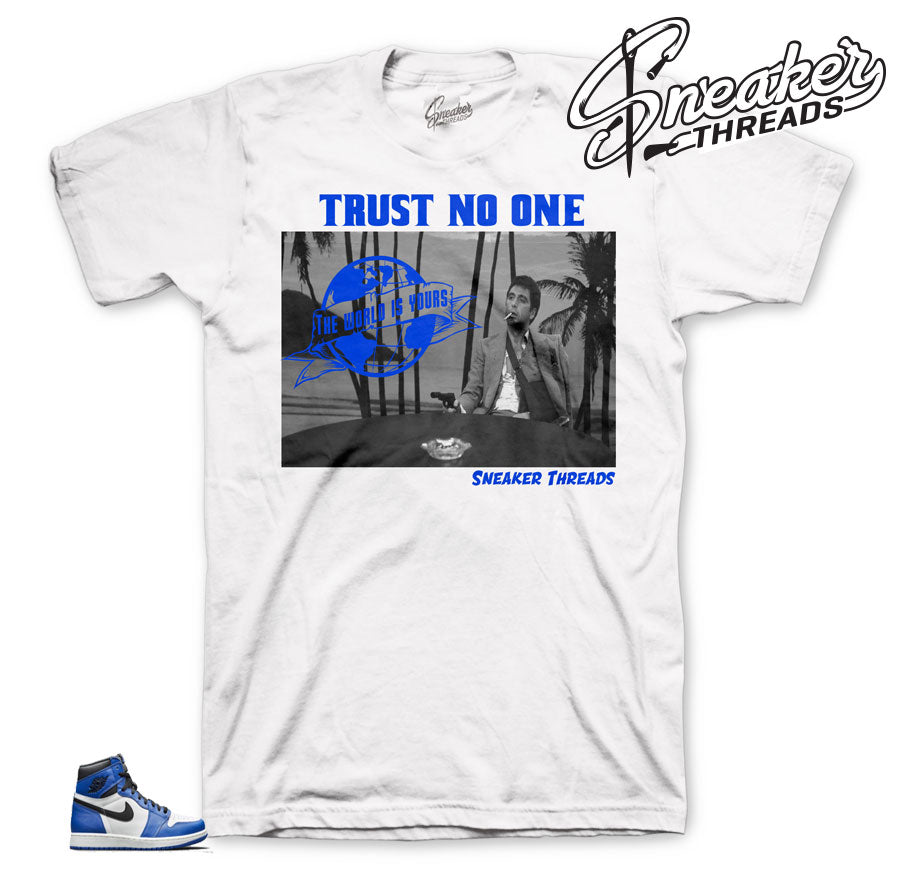Jordan 1 Game Royal Tony Knows Shirt