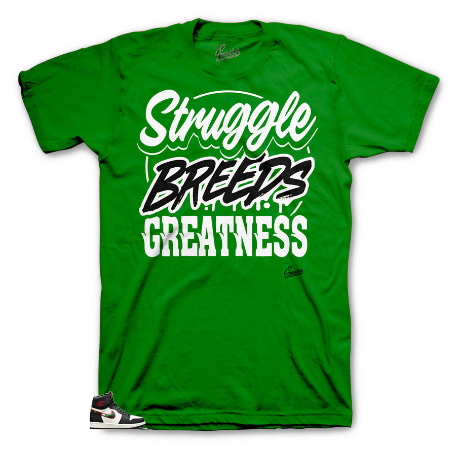 Green tees made to match Jordan 1 sports illustrated a star is born edition