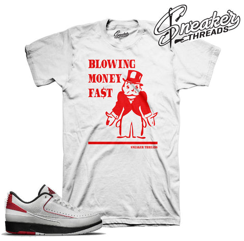 Jordan 2 bred tees match retro 2 chicago sneaker tees.