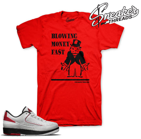 Jordan 2 bred shirts match retro 2 chicago sneaker tees.