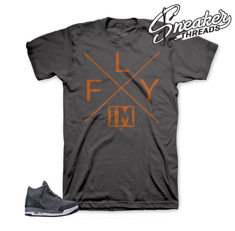 Jordan 3 anthracite bronze | Tee shirts match retro 3 gs.