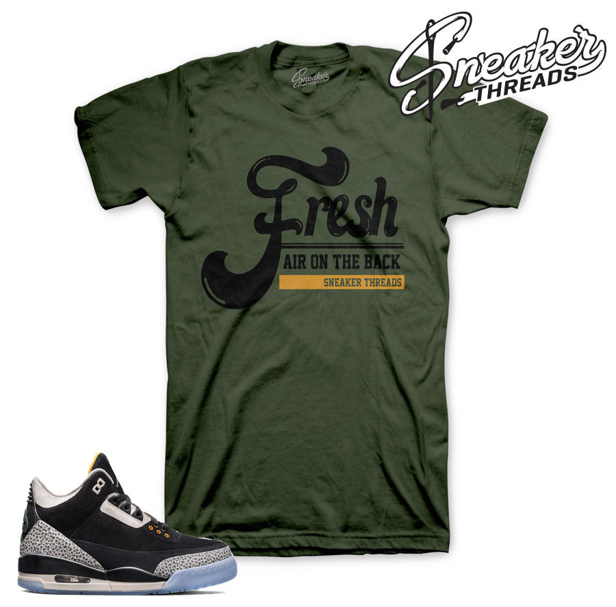 Jordan 3 safari Atmos air max shirts match | Sneaker Tee