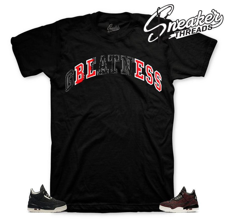 Stitched Bless shirt for Jordan 3 AWOK
