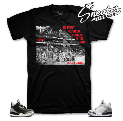 Black cement 3 sneaker tees match retro 3 white cement slam dunk.