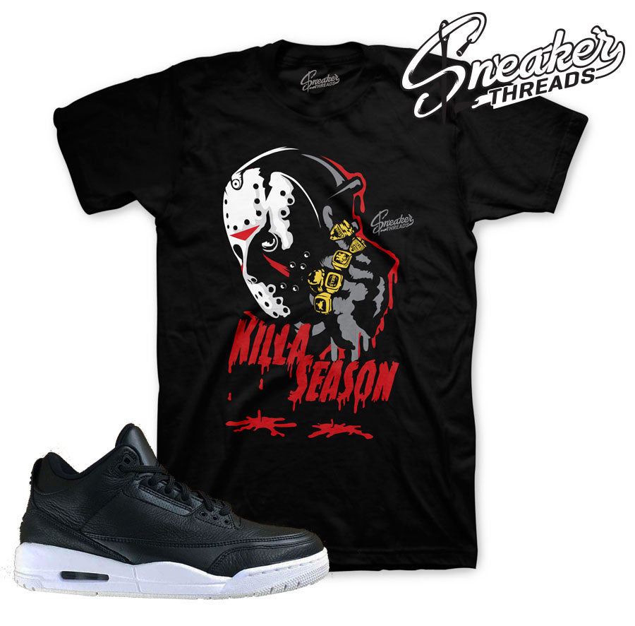 Jordan 3 cyber monday shirts match retro 3 black white tees.