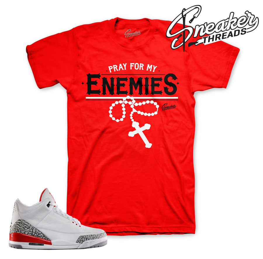 Jordan 3 katrina shirts match retro 3's fire red tees.