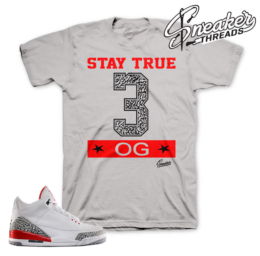 jordan 3 katrina stay true shirt .