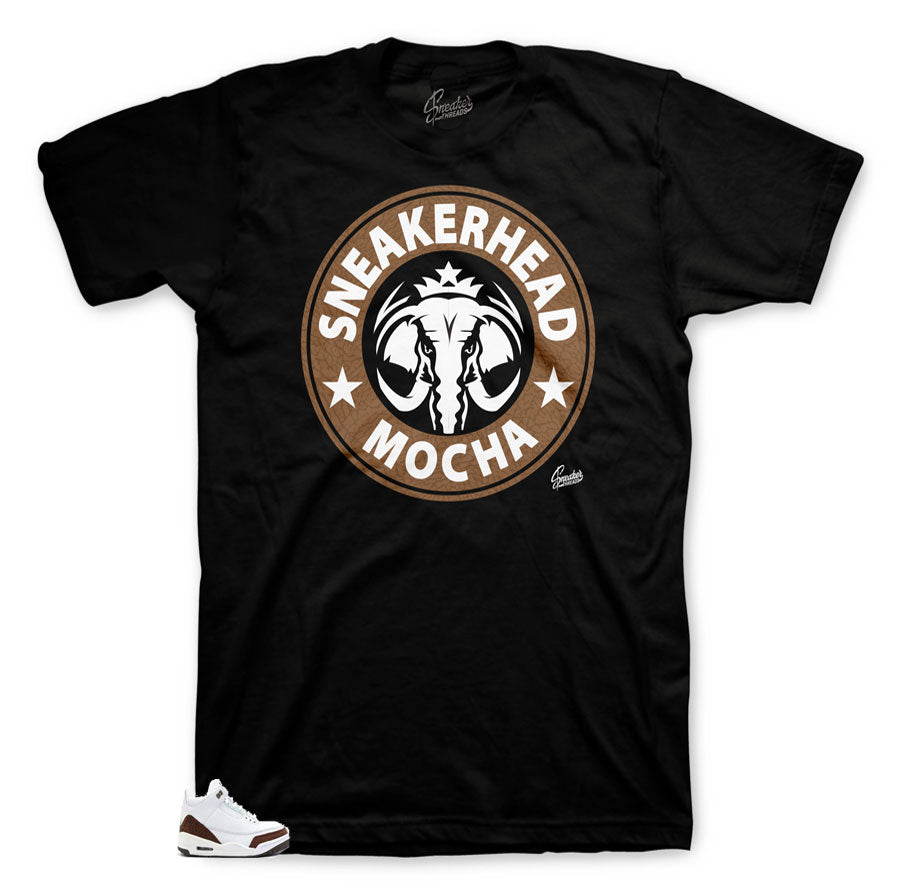 Jordan 3 mocha sneaker matching shirts tees for mocha 3s shoes.