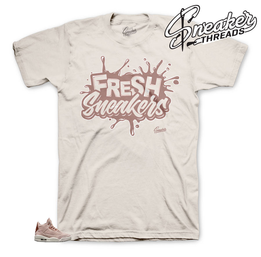 Fresh T-Shirts for Jordan 3 Particle Beige Sneakers