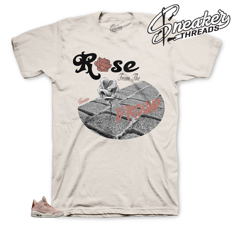 Rose shirts to match Jordan 3 Particle Beige