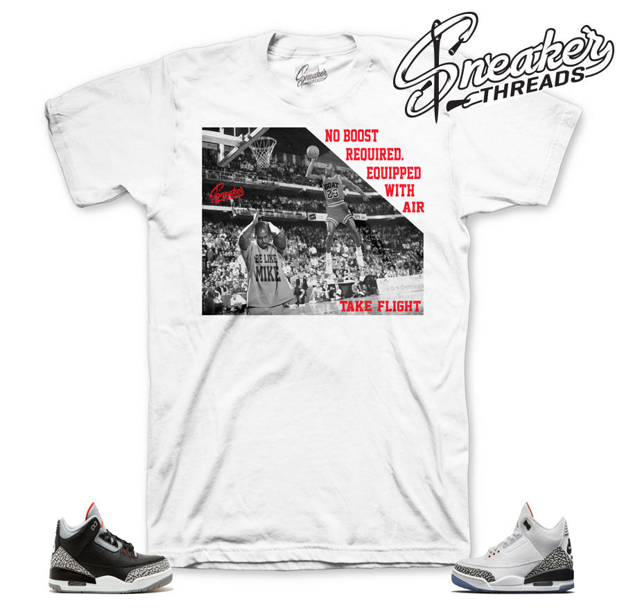 91fadde1663 Cement 3 sneaker shirts match retro 3 white cement slam dunk contest.