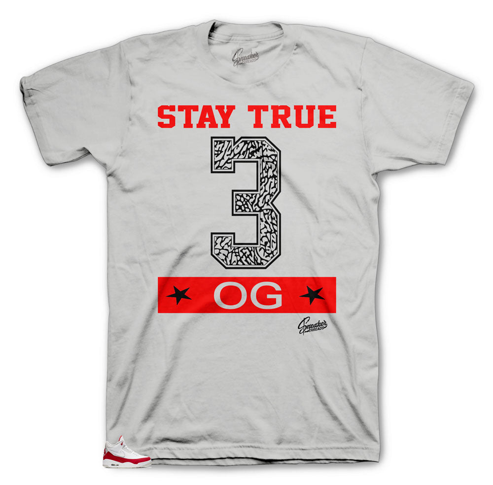 Shirts to match the sneaker Jordan 3 JTH University Red collection