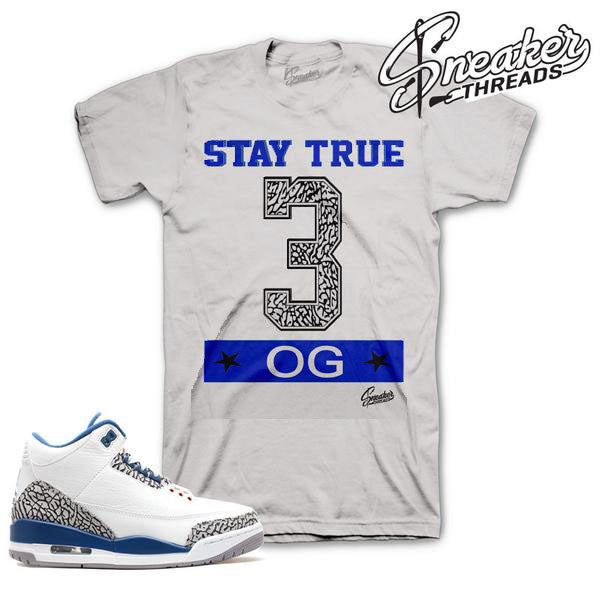 Jordan 3 true blue OG shirts sneaker match retro 3 tees.
