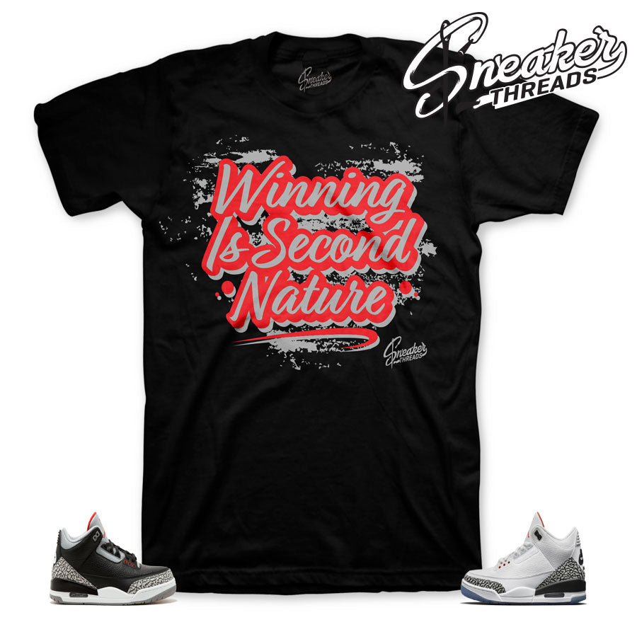 Clothing to match Jordan 3 black cement | Money And Mars tees.