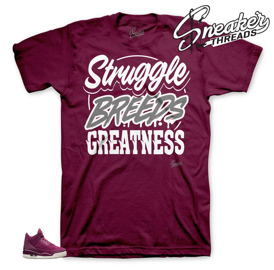 Jordan 3 Bordeaux Struggle Shirt