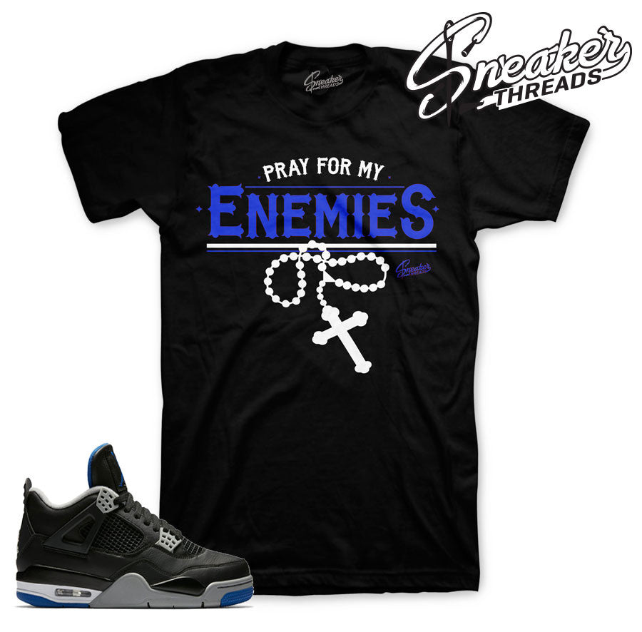 Jordan 4 black/royal shirts match retro 4 royal sneakers.