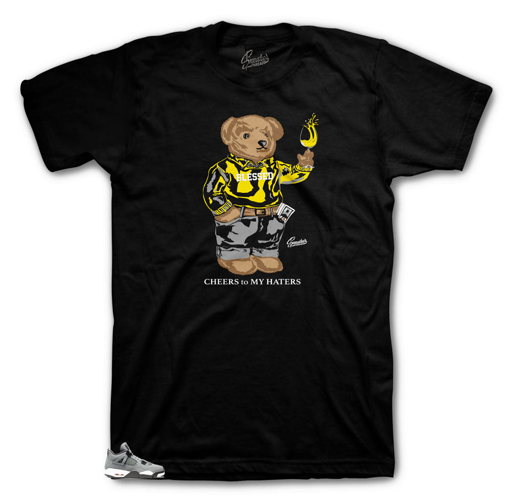 Jordan 4 Cool Grey Cheers Bear Shirt