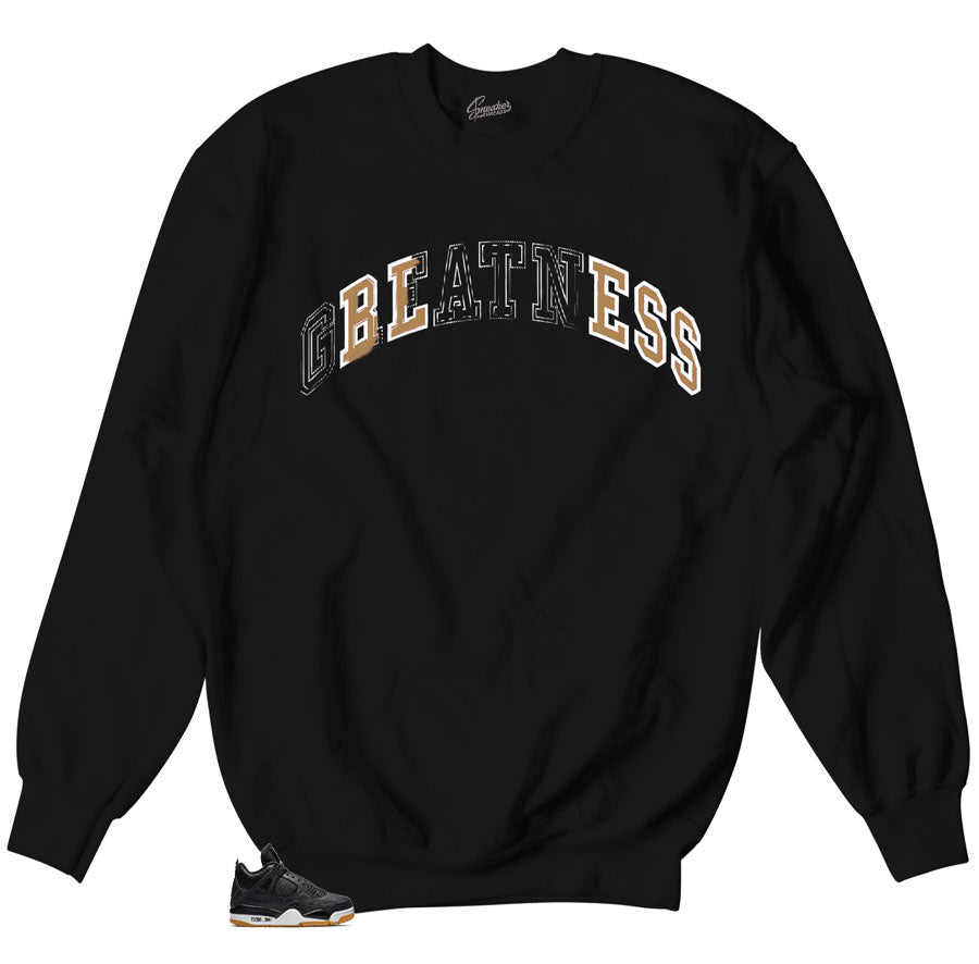 Crewneck Sweater designed specifically for to match Jordan 4 Laser Black Gum Sneakers