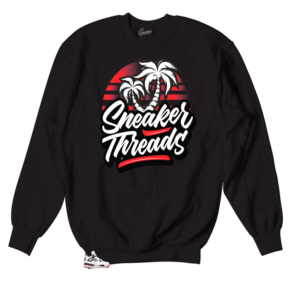 9c77c6a457e Crew neck designed to match the sneaker Jordan 4 Bright Crimson collection