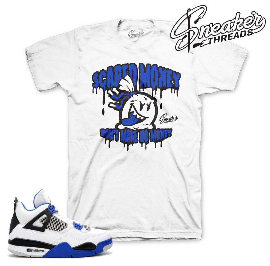 Jordan 4 motorsports shirts match retro 4 shoes.