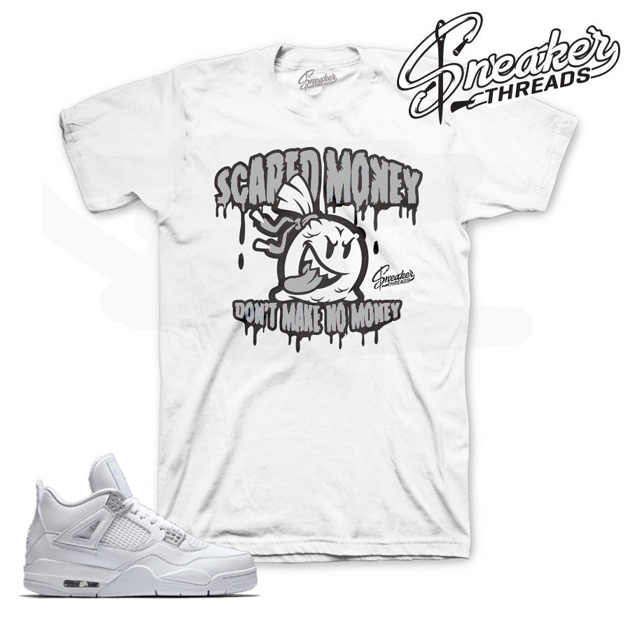 Pure money Jordan 4 tees match shoes pure money.