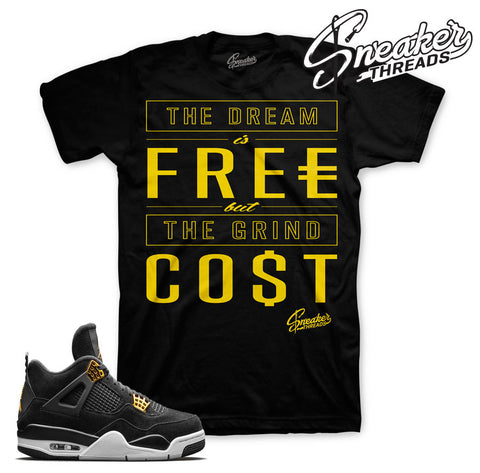 Jordan 4 royalty tees match retro 4's royalty t-shirts.