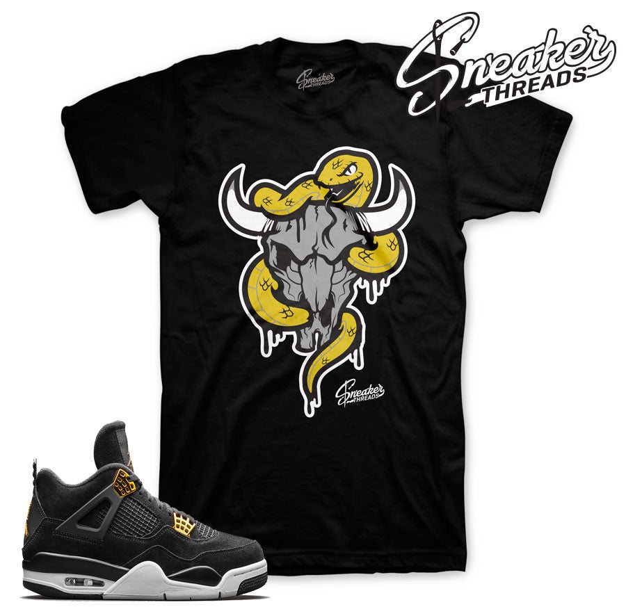 Fresh new Jordan 4 royalty tees match shoes.